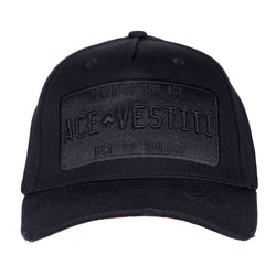 All Black Distressed Plated Baseball