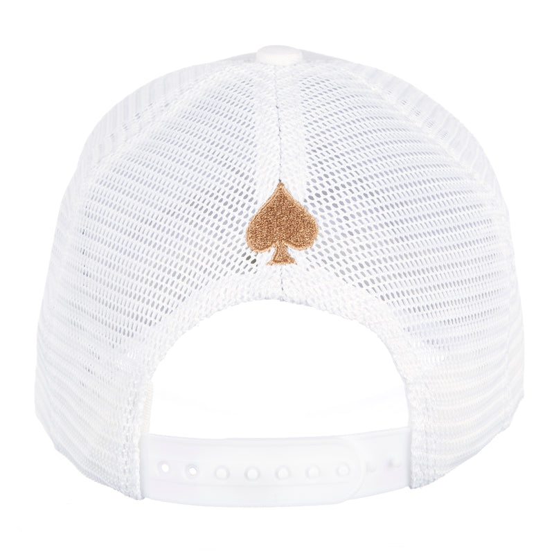 White & Gold Signature Trucker