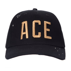 Black ACE Lettering Baseball
