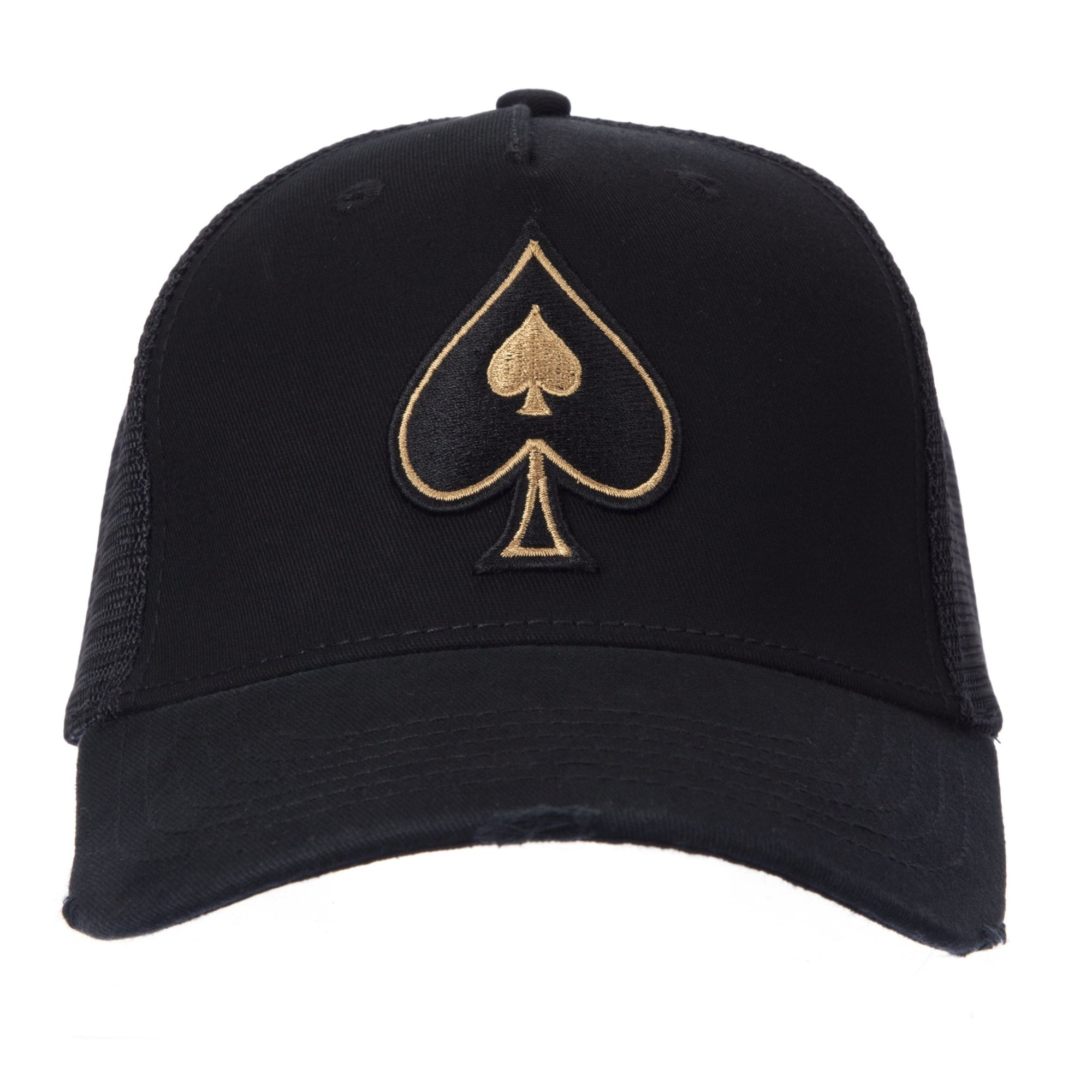 Black Trucker with Rose Gold Spades - ACE VESTITI