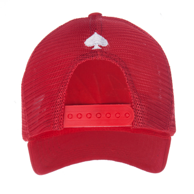 Signature Red Mesh Trucker