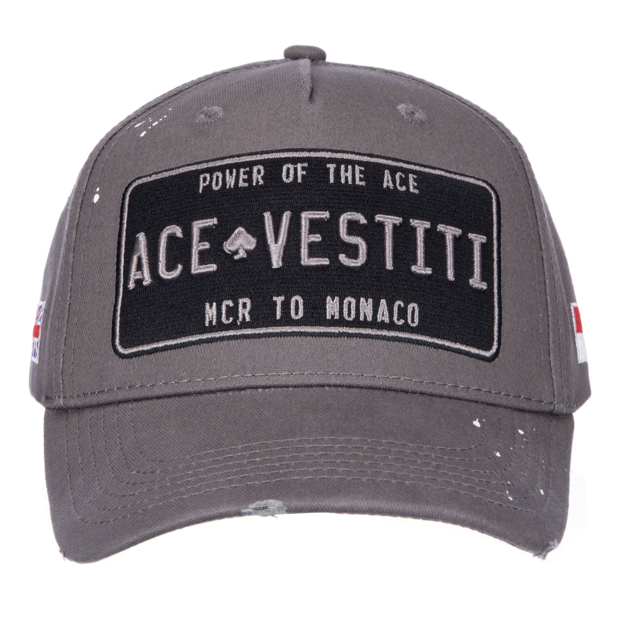 Paint Splatt Plated Grey Baseball - ACE VESTITI