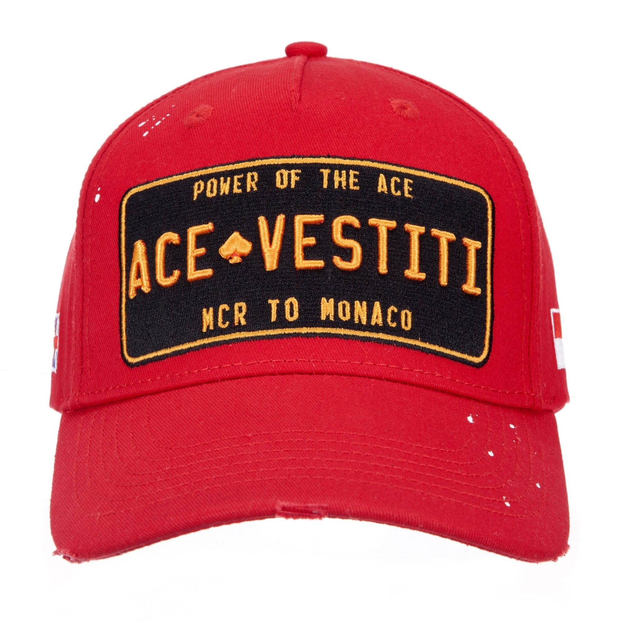 Paint Splatt Plated Red Baseball - ACE VESTITI
