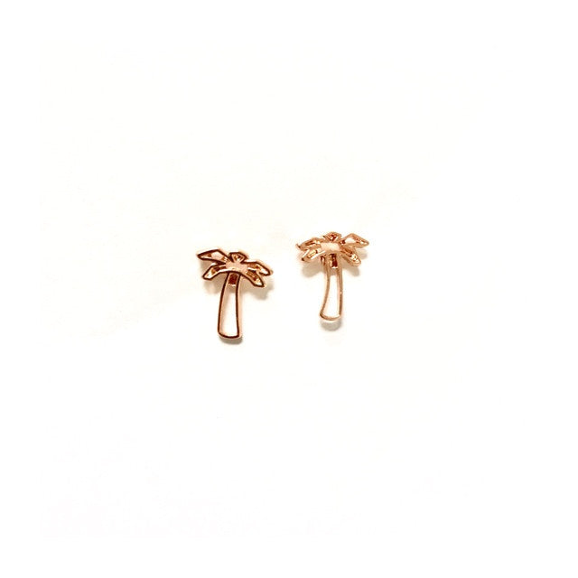 Palm Tree Rosé Earrings