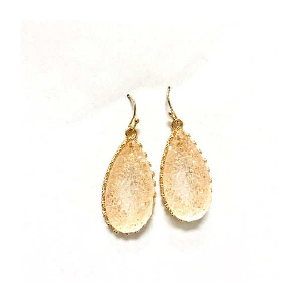Druzy T-Drop Earring