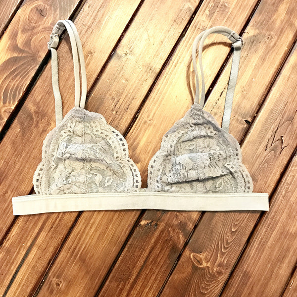 Grey Lace Bralette