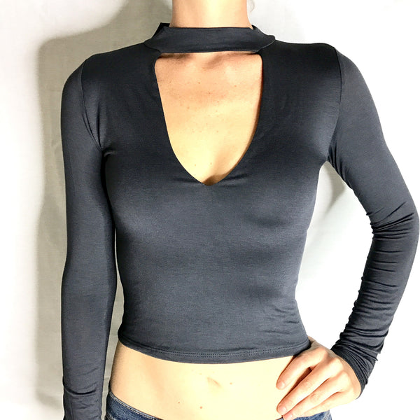 Keyhole Cut Out Top