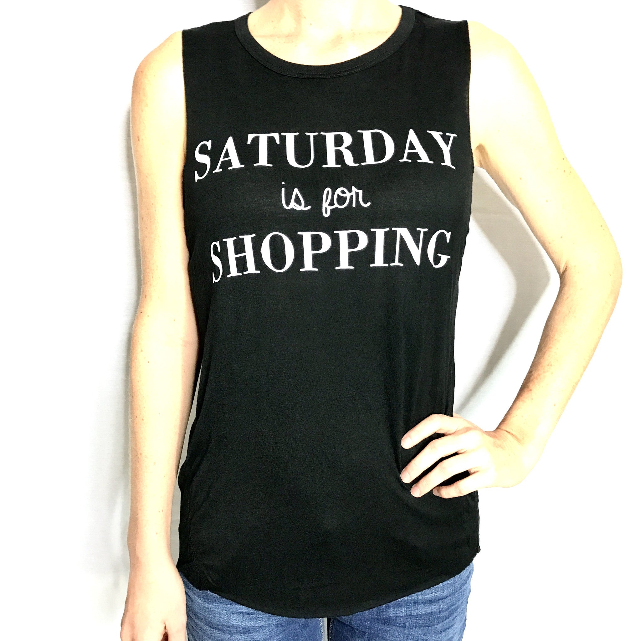 Saturday is for Shopping Tank