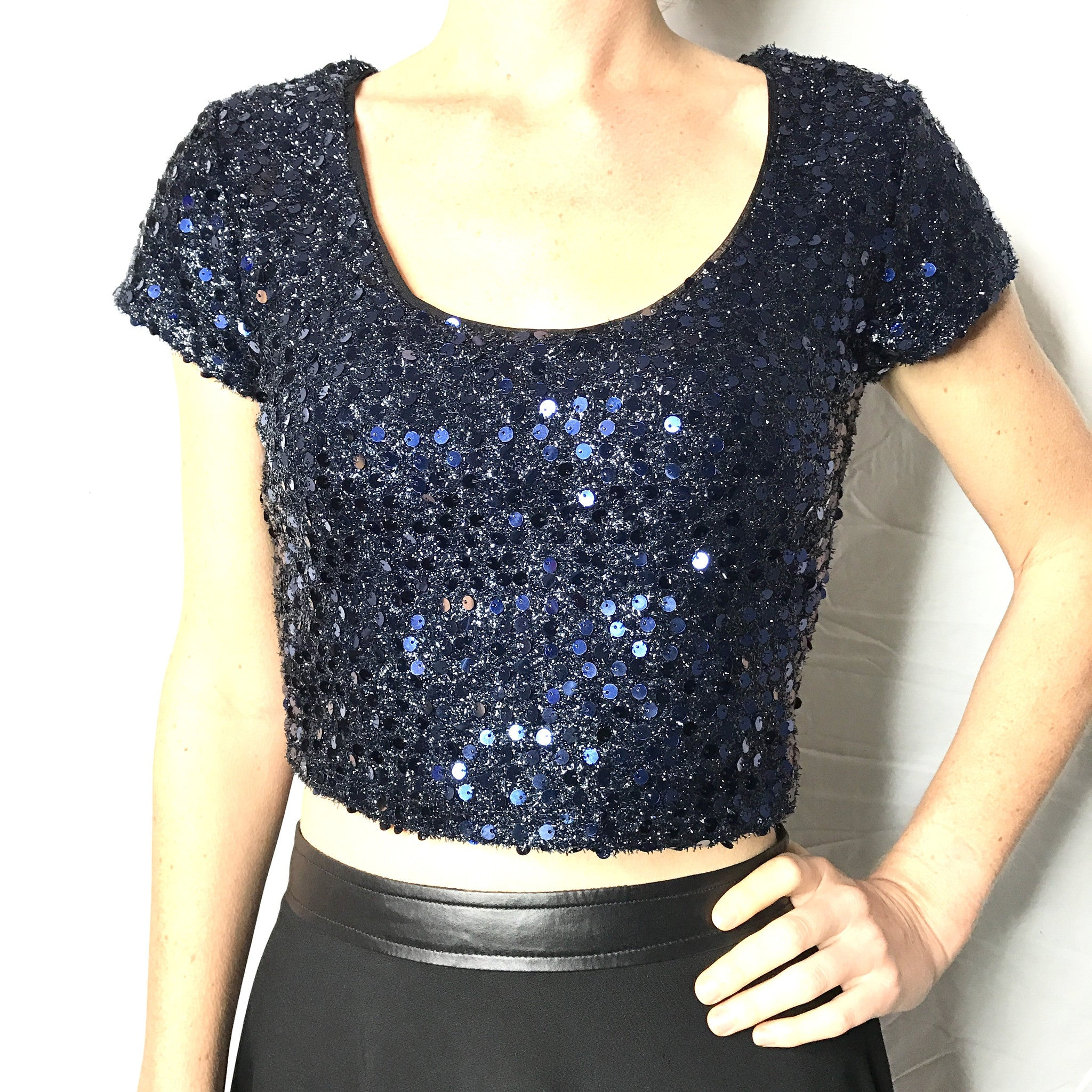 8ce951a24356e9 Sequin Crop Top – Saturday Boutique