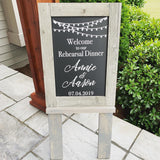 Large Chalkboard Rental Sign