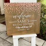 Large Confetti Event Sign Rental
