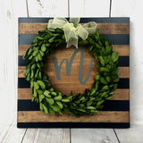 Framed Boxwood Wreath