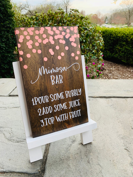 Rose Gold Confetti Rental Sign