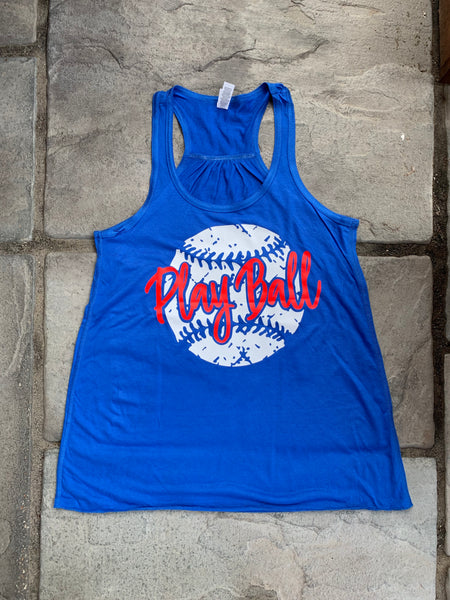 Play Ball Racerback Tank