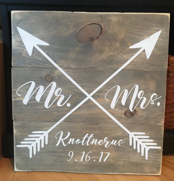 Rustic Arrow Wedding Sign