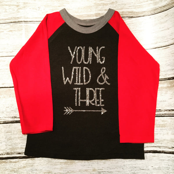 Young Wild and Three Toddler Raglan