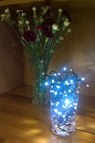 vase christmas lights easy diy decoration