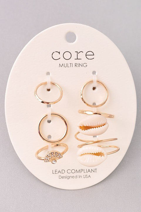 Seashell Ring Sets-ring-Jouvert Joli