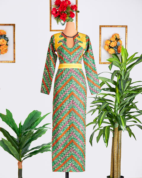Birago Embroidered Gown