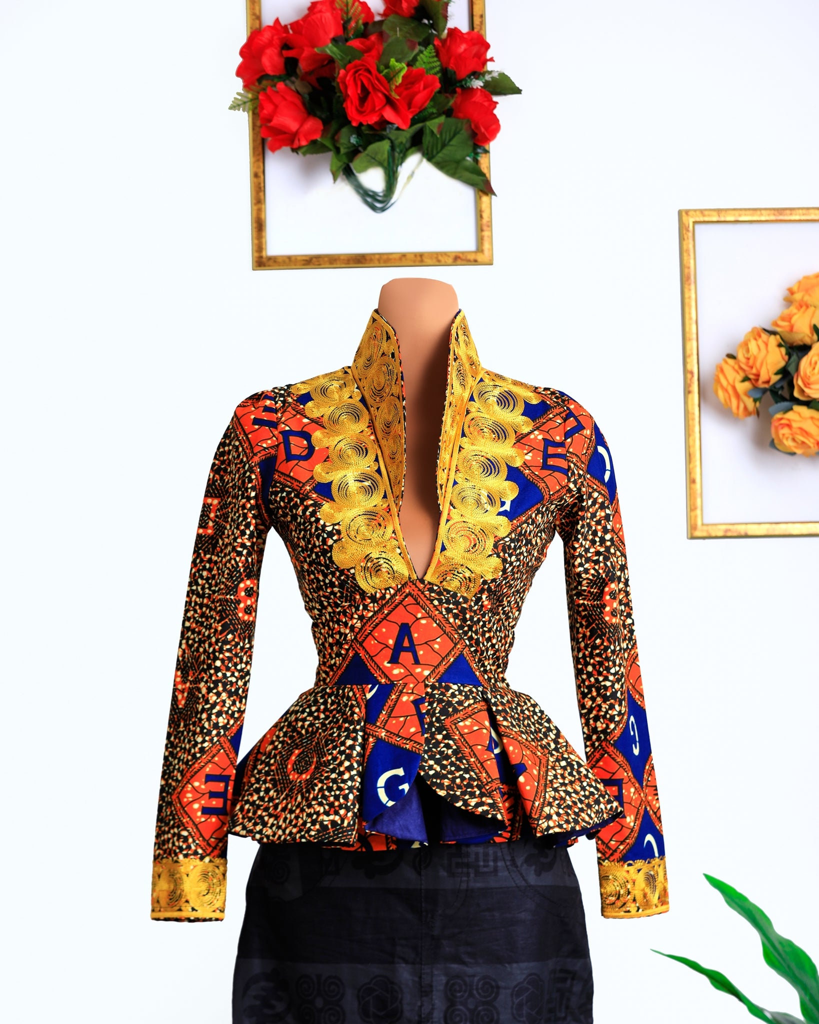 Sansa Embroidered Peplum Blouse