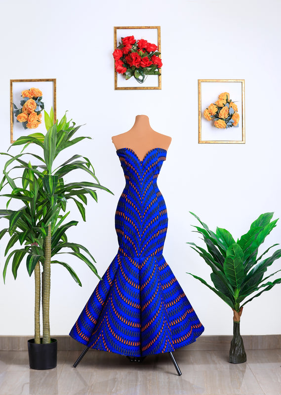 Cobalt Couture Gown
