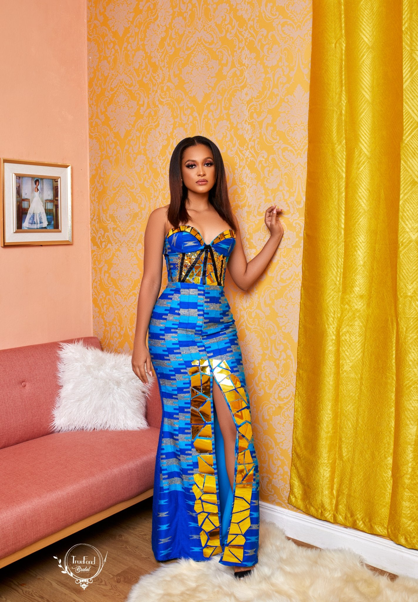 Strapless kente gown - TrueFond