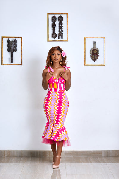 Akwellé kente dress - TrueFond