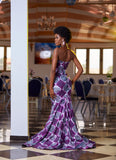 Purple Nebula batik gown