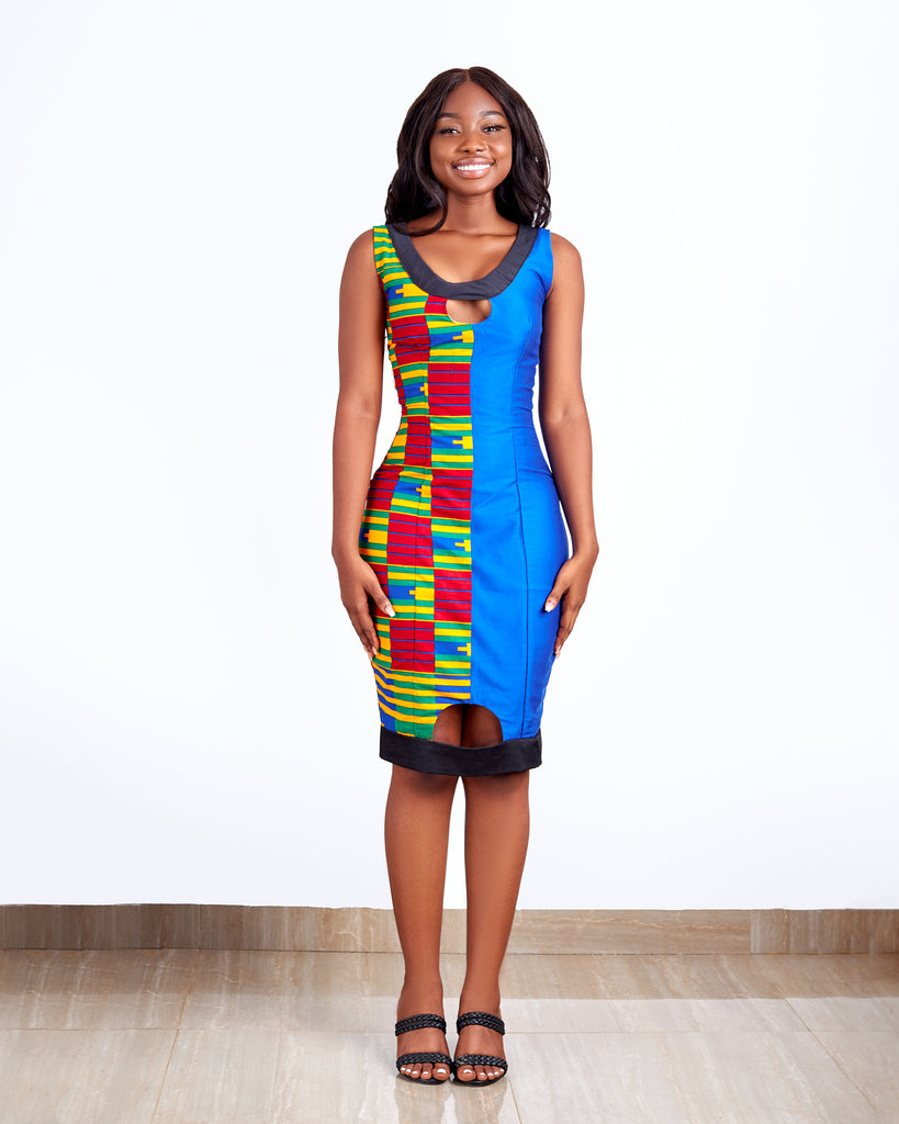 Hourglass Kente Dress