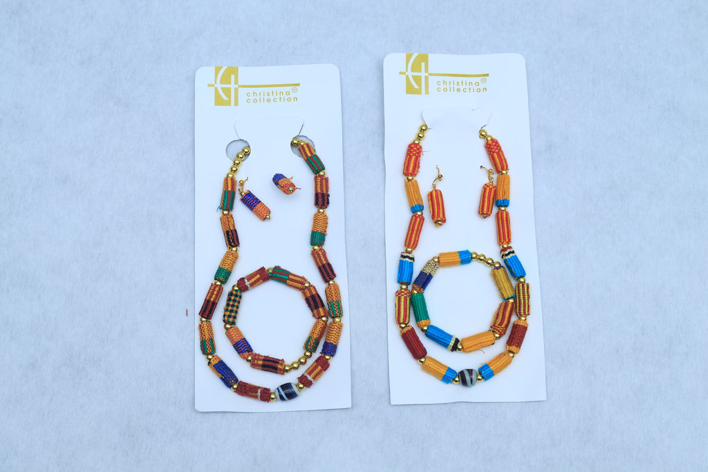 Kente jewelry set