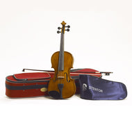 Stentor Violin Outfit Student 2 4/4 Solid Toneowoods,  Spruce front, Maple back,ribs and neck.Ebony fingerboard and pegs. Rope core strings.