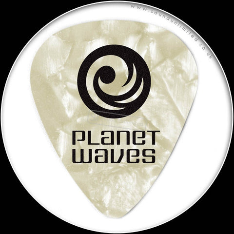 Planet Waves Pearl Celluloid Picks-X.Hvy- WhitePearl - 1CWP7-10