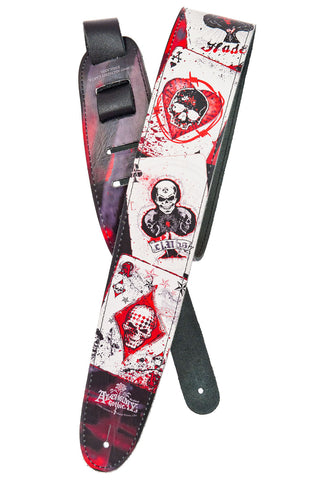 Planet Waves Dead Draw Leather Guitar Strap 25LAL02