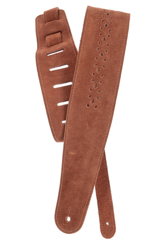 Planet Waves Camel Suede Rosette Guitar Strap 25PRF04