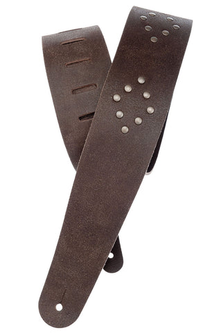 Planet Waves Blasted Leather with Rivets Guitar Strap 25VNRD01
