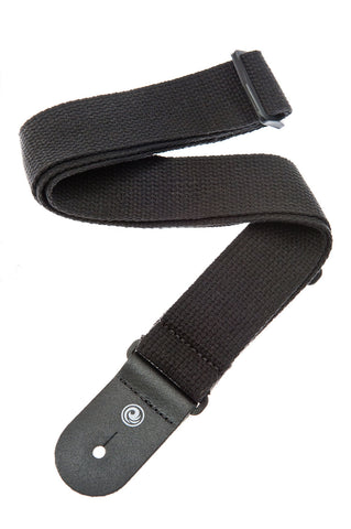 Planet Waves Cotton Guitar Strap - Black 50CT00