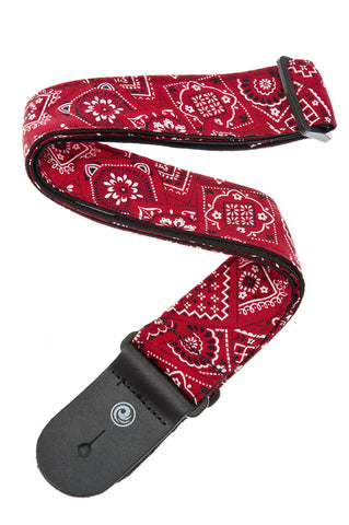 Planet Waves Bandana Red Guitar Strap 50G02