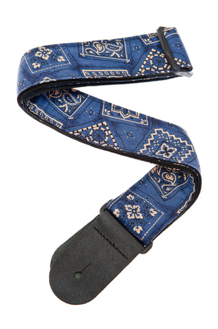 Planet Waves Bandana Blue Guitar Strap 50G03