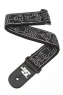 Planet Waves Joe Satriani Skull n Bones Guitar Strap 50JS01