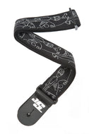 Planet Waves Joe Satriani Silver Sketches Guitar Strap 50JS05