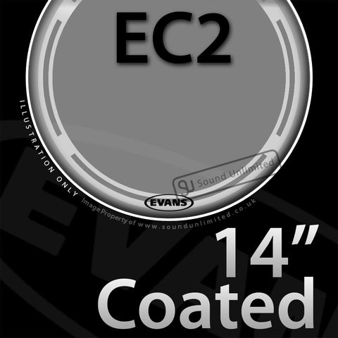 Evans B14EC2S 14 inch EC2 Batter Coated 2-ply