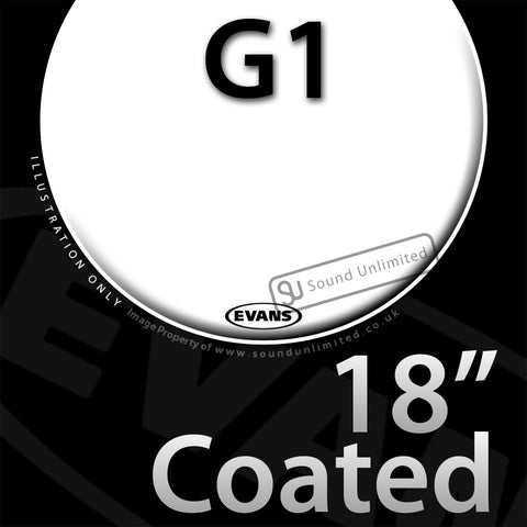 Evans B18G1 18 inch Genera G1 Batter Coated 1-ply