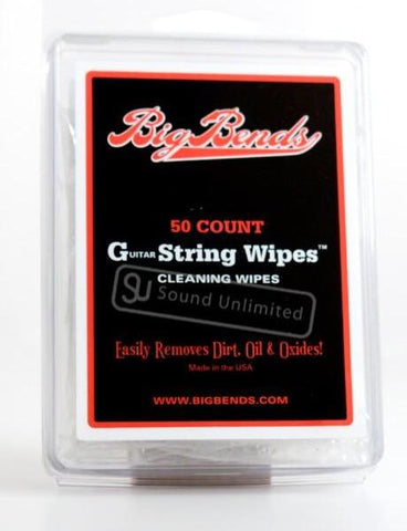Big Bends Guitar String Wipes 50pcs