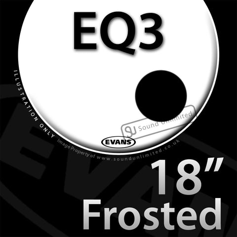 Evans BD18RGC 18 inch EQ3 Bass Resonant Frosted