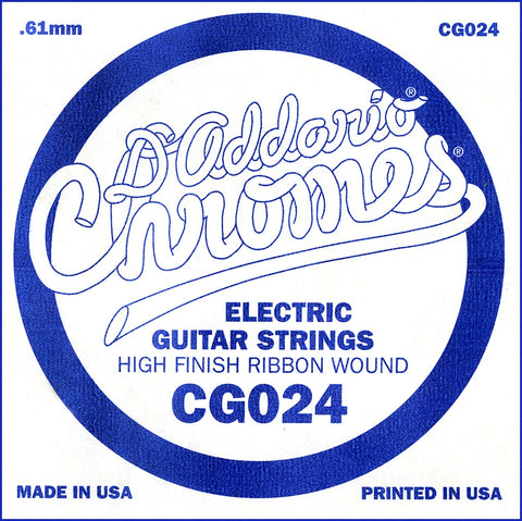 D'Addario CG024 Flat Wound Electric Guitar Single String, .024