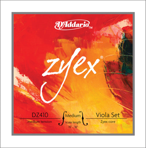 Daddario Zyex Viola Set Medium Med - Dz410 Mm
