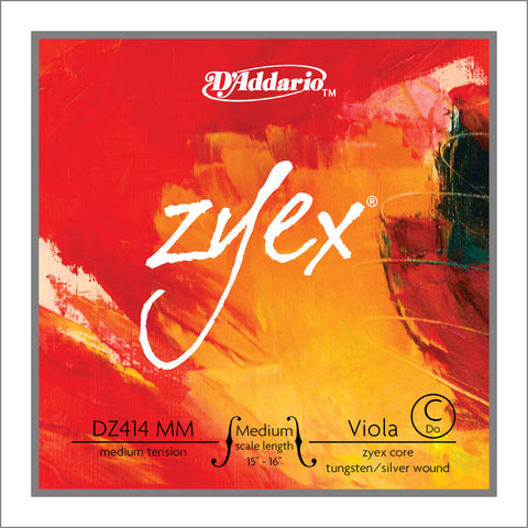 Daddario Zyex Viola C Medium Med - Dz414 Mm