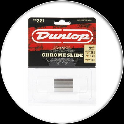 Dunlop - Chromed Steel Slide - Med Knuckle - 221