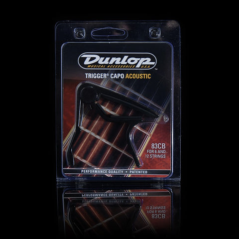 Dunlop Trigger Capo Acoustic Curved Black 83CB