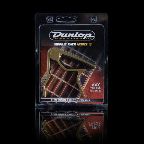 Dunlop Trigger Capo Acoustic Curved Gold 83CG